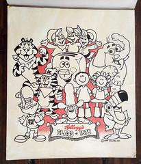 Vintage Kellogg's Class of 1979 Tote Bag Production Art (gregg_koenig) Tags: vintage kelloggs class 1979 tote bag production art cereal milton toaster tusk yella poptarts tony tiger