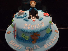 Surfer Dude (Victorious_Sponge) Tags: surfer birthday cake shark fish sea 50th 40th surf board