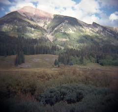 avery face (lawatt) Tags: avery peak mountain spruce trees rmbl gothic colorado film 120 portra diana f