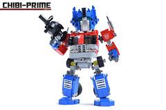2. Chibi-Prime Ion Blaster (Sam.C MOCs (S2 Studios)) Tags: lego transformers optimus prime chibi moc mech robot anime scifi car truck