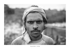 India Portrait - Varanasi (Vincent Karcher) Tags: asia india varanasi vincentkarcherphotography art beauty blackandwhite culture documentary human noiretblanc people portrait project reportage rue street travel voyage world