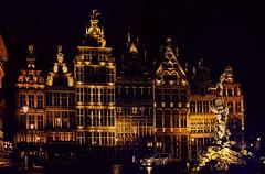 Antwerp by night. (ost_jean) Tags: ostjean nikon d5200 350 mm f18 architectuur colors reflections nightshot art statue antwerp antwerpen anvers lights wow ngc