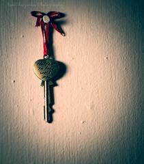 Key to My Heart (Red Chrysalis) Tags: keys redribbon love heart vignette stilllife