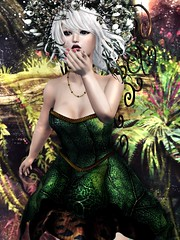 Broken Style Fairy - Fantasy Gacha Carnival - Feb (moonshagoreanstore) Tags: fantasy gacha fairy mesh dress medieval flower flowers forest dream cute sexy nature natural leaf leaves sl second life carnival prim girl woman women hot cutie green wings