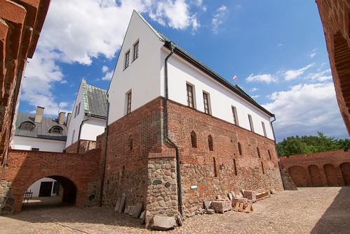 Budynki zamku w Gosławicach od północnego zachodu