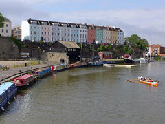 Overlooking the harbour (jrw080578) Tags: trees england buildings river bristol geotagged boats narrowboats