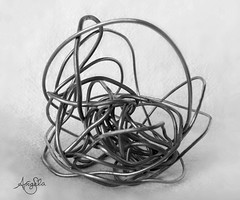 Tangled (Galactic Dreams) Tags: life blackandwhite bw macro art monochrome canon ball real lost trapped wire support truth alone object empty secret victim lies innocent smooth bad cage sharp help lie soul statement void emotional tangle liar locked rejected injustice trap hollow abuse survivor careful ptsd tangled misinformation admit coverup integrity sexualabuse cunning nojustice whitelies victimized tangledweb wireball tangledmess ballofwire blacklies policefail lookingforsoul emptylies ballwire balloflies bundleoflies revictimized systemfailed lawfail
