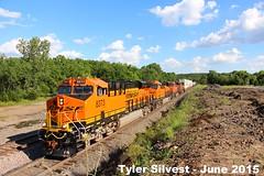 BNSF 8373 Leads EB Intermodal 6-8-15 (KansasScanner) Tags: railroad train kansas shawnee bnsf zarah intermodal