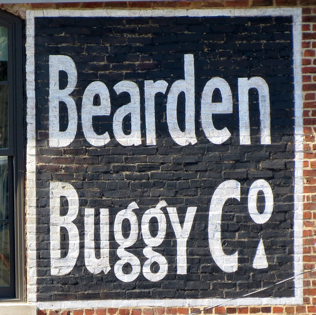 Bearden Buggy Co. hand-painted sign