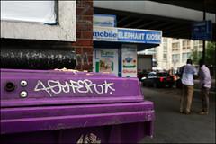 4Syfer (Alex Ellison) Tags: urban graffiti boobs tag bin graff southlondon elephantcastle 4syfe 4syfer