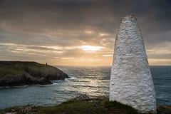 Portgain Point (John P Norton) Tags: white stone wales clouds landscape marker manual f40 portgain 1640sec focallength30mm 24120mmf4 nikond750 copyright2015johnnorton