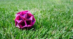 Вова, с днем рождения! (_Ekaterina) Tags: rose paper origami violet paperfolding kraft modularorigami kusudama unitorigami kusudamaorigami ekaterinalukasheva
