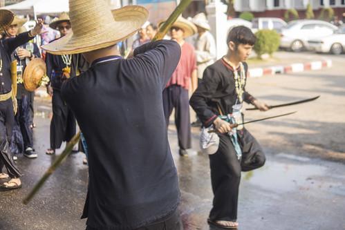 Songkram Parade in Chiang Mai, Thailand