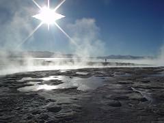Hot springs at Altiplano, Uyuni, Bolivia