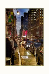 Go, if you can (Krasne oci) Tags: newyork nightphotography city lights taxi streetshot bike travel winter people street nightlife evabartos