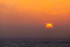 Sunset, Great Ocean Road, Victoria (russellstreet) Tags: suninframe sun horizon sunset water cloud
