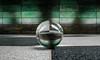 Green Wall (katrin glaesmann) Tags: hamburg tube metro ubahn station ubahnhof hvv u4 hafencityuniversität crystalball glaskugel colour