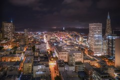 San Francisco (karinavera) Tags: travel sonya7r2 sanfrancisco longexposure night eeuu urban ca building tourism cityscape view city aerial coittower