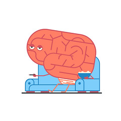Day 33: Brain Fart (ChrisKoelsch) Tags: brain fart character illustrator illustration tv boob tube chip chips snacks couch potato tires lazy vector