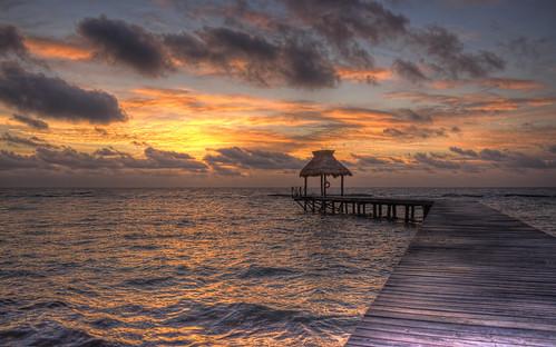 Sunrise  pier in Mexico