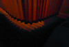 The Curtain and Carpet (Steve Taylor (Photography)) Tags: art digital curtains carpet black brown lowkey fabric lines shadow