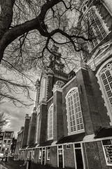 Fuji X-Pro1 10-24mm (Ozmanguday Pics) Tags: fujifilm fuji xpro1 1024mm ultrawide blackwhite cityscape street city westerkerk amsterdam netherlands church