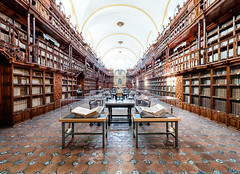 Biblioteca Palafoxiana, Puebla, Mexco (Maria_Globetrotter) Tags: dscf5421lr books library fujifilm xa2 fuji interior indoor bibliotek puebla floor
