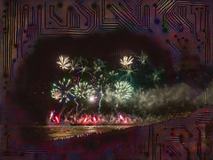 Memory Storage (Steve Taylor (Photography)) Tags: memory chip circuit board pcb art digital fun people crowd newzealand nz southisland canterbury christchurch newbrighton beach ocean pacific pier sea waves texture night 5 5th explosion fireworks guyfawkes mortar november pyrotechnics smoke