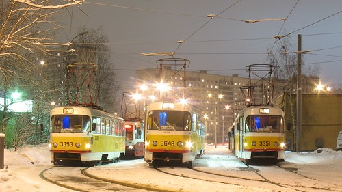 Moscow tram Tatra T3SU 3648