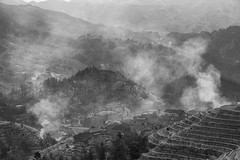 人间烟火 (Anna Kwa) Tags: longjiriceterraces dragonsbackbonericeterraces morning village smoke mountains valleys guilin guangxi southwest china annakwa nikon d750 afsnikkor70200mmf28gedvrii my lonely worries otherworldly always dwelling living seeing heart soul throughmylens travel world faraway 人间烟火 ononokomachi shigeruumebayashi fearless