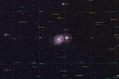 M51 - The Whirlpool Galaxy (NGC 5194) in Canes Venatici - Annotated (Absolute Folly) Tags: m51 whirlpoolgalaxy astrophotography