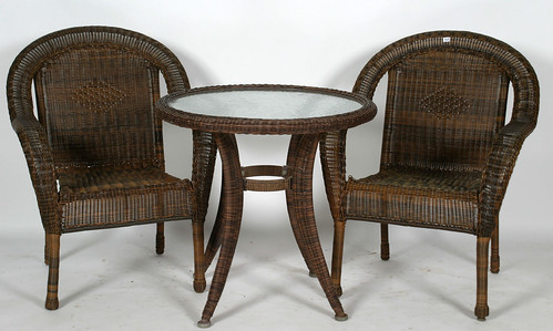 Wicker Glass Top Table & 4 Chairs ($319.00)