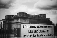 Obviously... (vitusthomsen) Tags: urban blackandwhite bw architecture 50mm cityscape hamburg streetphotography highcontrast bunker yashica primelens kampfmittel feldstrase vintageprimes