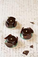 Ambroisie - Chocolate Pistachio and Raspberry Entremet (Мiuda) Tags: food cakes cake dessert japanese gold sweet chocolate pastel delicious glaze pistachio pastry raspberry mousse entremet hidemisugino individualcakes mirrorglaze