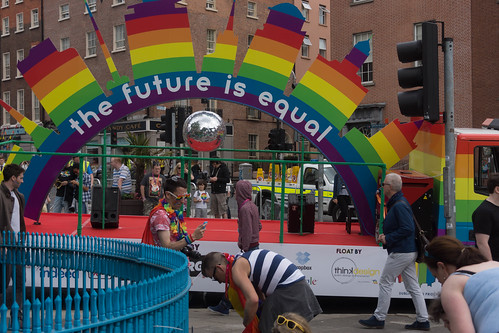 DUBLIN 2015 LGBTQ PRIDE FESTIVAL [PREPARING FOR THE PARADE] REF-106215