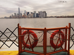 View Of New York From Staten Island Ferry (dorothylee) Tags: city newyorkcity urban downtown cityscape manhattan eastriver statenislandferry thebigapple dorothyleephotography