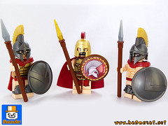 SPARTANS (baronsat) Tags: greek ancient lego barf alexandre mythology spartans minifigures boudon brickwarrior
