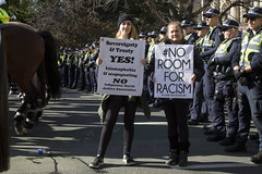 (louisa_catlover) Tags: street winter urban demo rally protest counterprotest july australia melbourne victoria demonstration racism 2015 upf counterrally noroomforracism reclaimaustralia unitedpatriotsfront