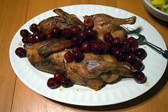 Roast Duck with Cherries (jjldickinson) Tags: food cooking dinner cherry duck sauce eating fork longbeach wrigley platter roastduck gastrique nikond3300 promaster52mmdigitalhdprotectionfilter 100d3300 nikon1855mmf3556gvriiafsdxnikkor roastduckwithcherries