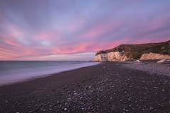 Nape Nape Beach Canterbury - New Zealand (Kathy Reid. NZ) Tags: napenape napenapebeach limestonecliffs coastline sunrise beach canterburycoastline southisland newzealand longexposure