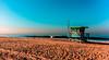 A little early at Venice Beach. (The Sergeant AGS (A city guy)) Tags: losangeles california unitedstates beach beachscape blue venicebeach sand seashore walking waterways travelformyjob outdoors