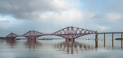 Forth Crossing (munro14) Tags: scotland southqueensferry rail train bridge forth firth south queensferry reflection river