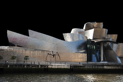 En color con fondo negro. Bilbao (MiquelGP54) Tags: museoguggenheim bilbao euskadi fotografíaarquitectónica architecturalphotography