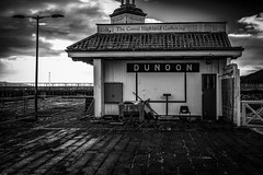 I have seen better days - Dunoon Jan 2017 (GOR44Photographic@Gmail.com) Tags: dunoon pier scotland mono bw cloud gor44 argyll coast cowal fujifilm xpro1 27mmf28 lamp