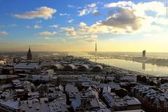Dawn of Light (IVAN 63) Tags: panorama vista paesaggio neve natale natalizio landscape view snow christmas white riga latvia latvja latvija lettonia wow winter frozen