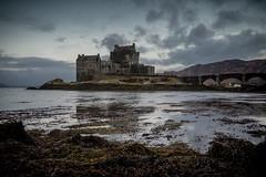 A Famous castle in Scotland (marklinton94) Tags: weed sea donan eileen nikon d600 tokina 2035 scotland castle lake loch mountains seaweed stone bridge arch