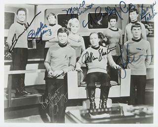 Autographed Star Trek cast photo