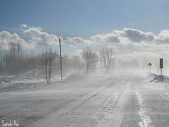 (Sarah-Vie) Tags: img5086 hiver route routedecampagnelhiver paysagehivernal poudrerie hiverauquébec bourrasquedeneige hiveraucanada