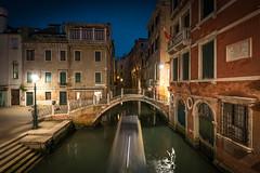 Venetian Canal at Night