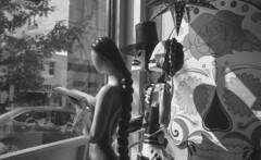 window (bergytone) Tags: analog film bw kodak bantam folding deco kentmere xtol 828 roll windo shop store dayofthedead